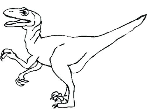 Raptor Dinosaur Drawing at GetDrawings | Free download