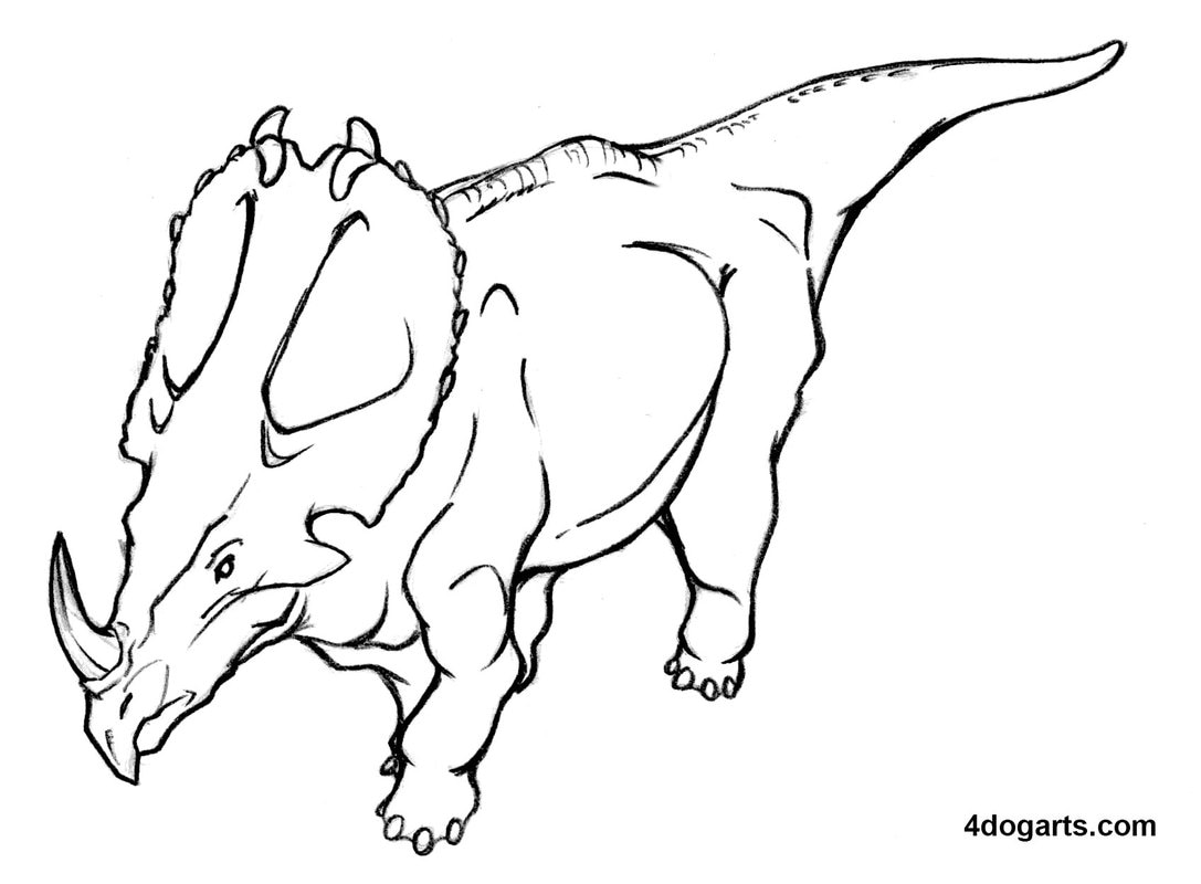 1087x800 How To Draw A Dinosaur From Above