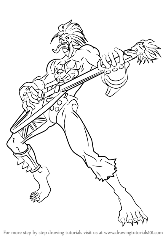 567x800 Learn How To Draw Lord Raptor From Darkstalkers (Darkstalkers