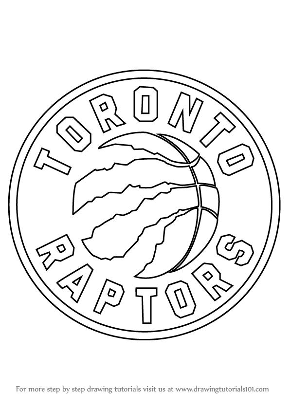 596x842 Learn How To Draw Toronto Raptors Logo (Nba) Step By Step