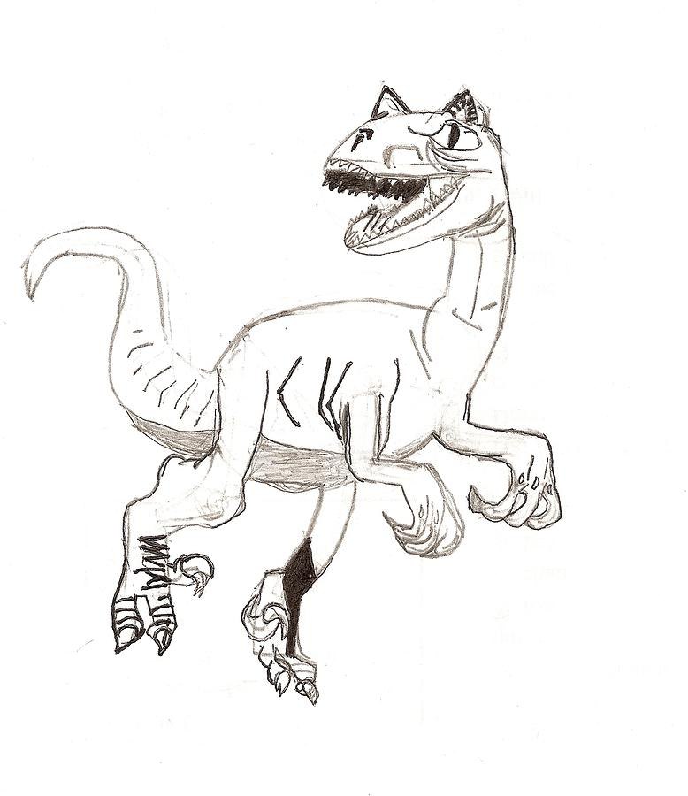 778x900 Raptor Drawing By Fred Hanna