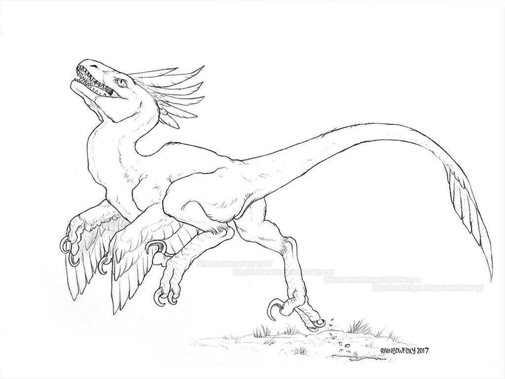 1024x768 Raptor Run By Rainbow Foxy