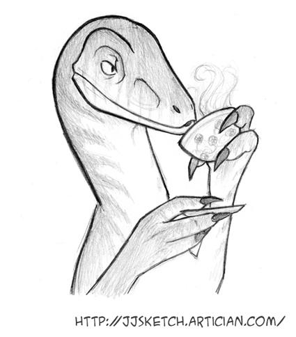 425x484 Raptor Jj Sketch