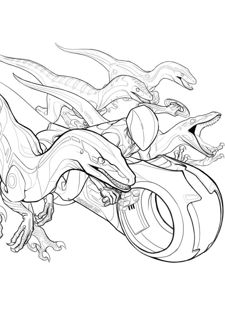 762x1048 Digital Raptor Squad By Inkybrain