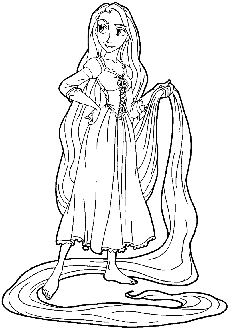 800x1151 How To Draw Rapunzel From Tangled With Easy Step By Step Drawing
