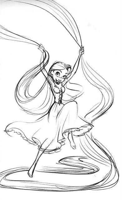 391x640 Rapunzel Disney Art Draw Sketch Inspiration Disney