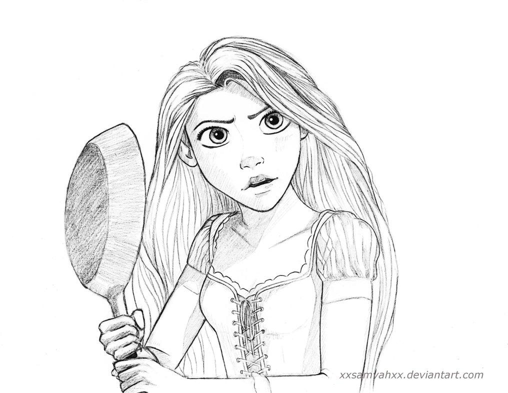 1016x786 Rapunzel Sketch By Xxsamyahxx