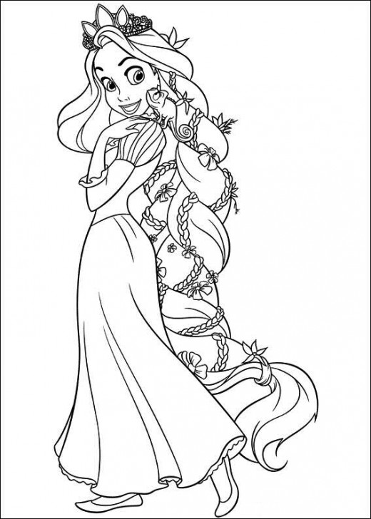 520x728 The Best Disney Tangled Rapunzel Coloring Pages Disney Tangled