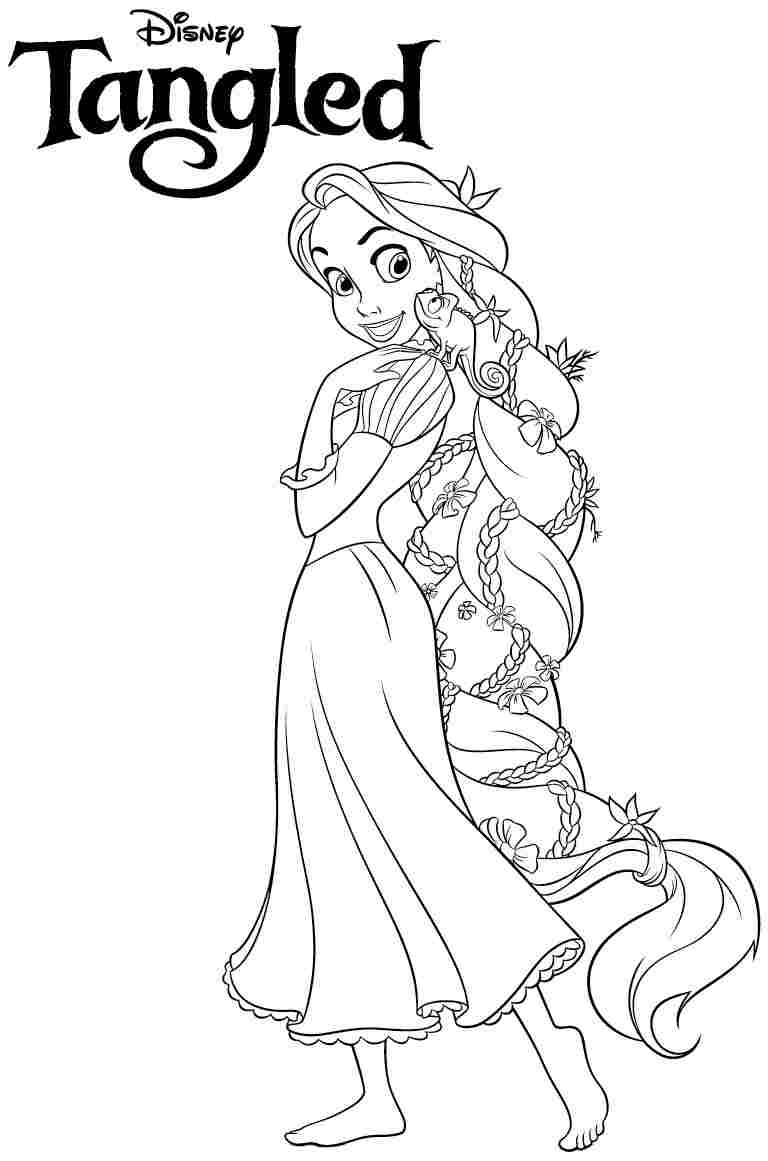768x1161 disney rapunzel coloring pages - Free Printable Disney Coloring Pages For Kids