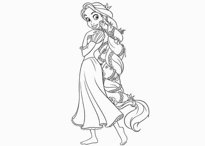 700x500 Disney Rapunzel Coloring Pages Free And