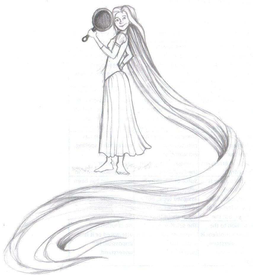 854x935 Rapunzel Doodle By Kd Dragon