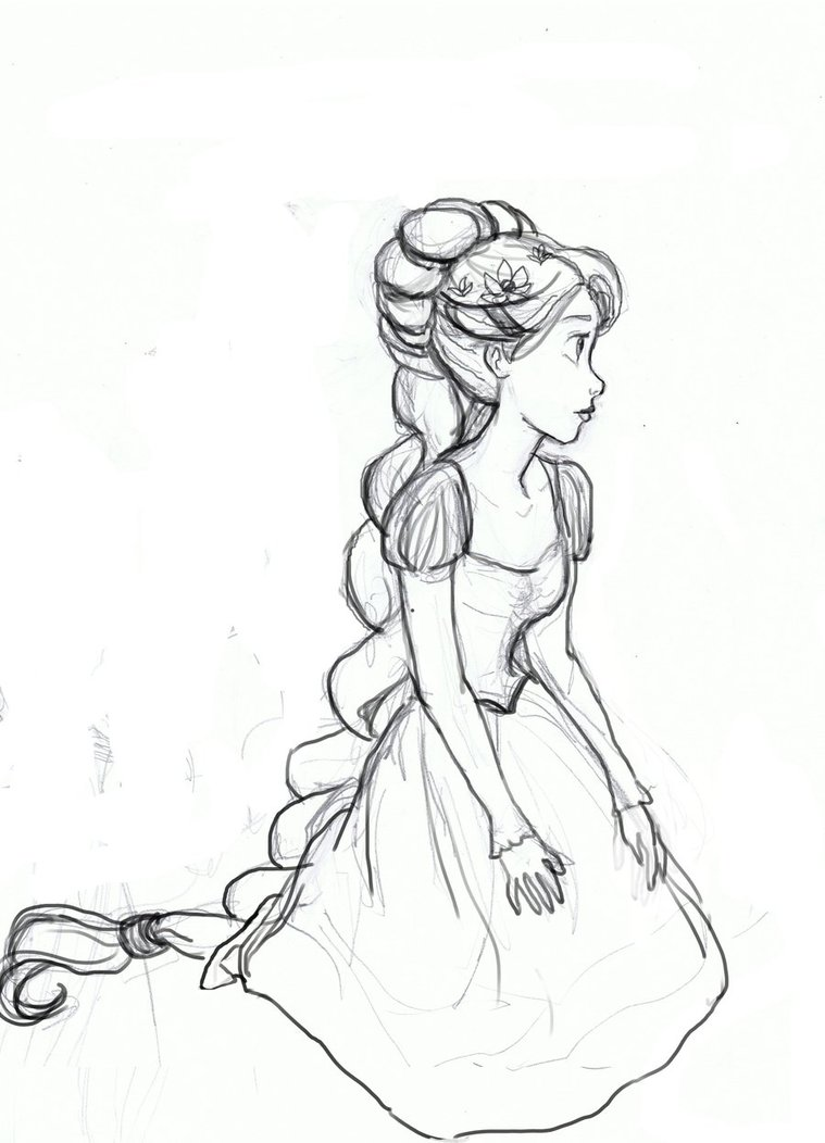 759x1052 Rapunzel Sketch 2 By Atnica