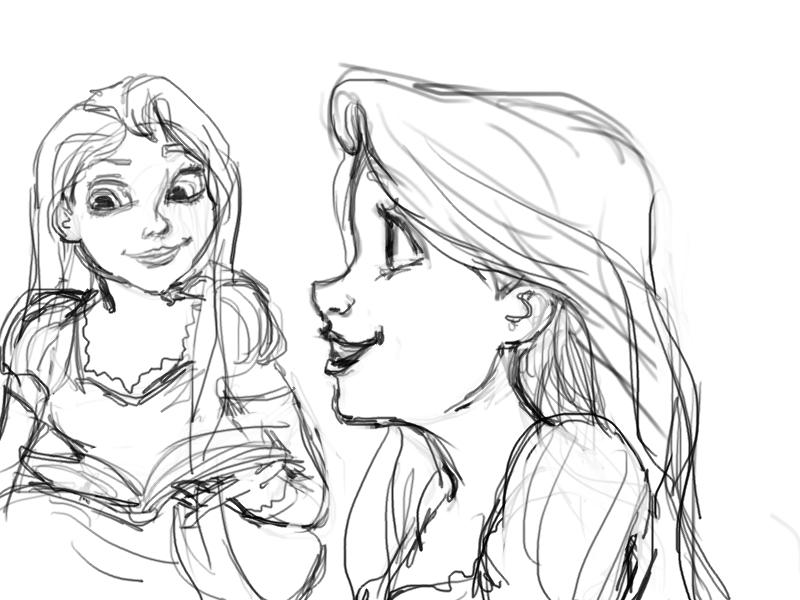 800x600 Rapunzel Sketch 3 By Atnica