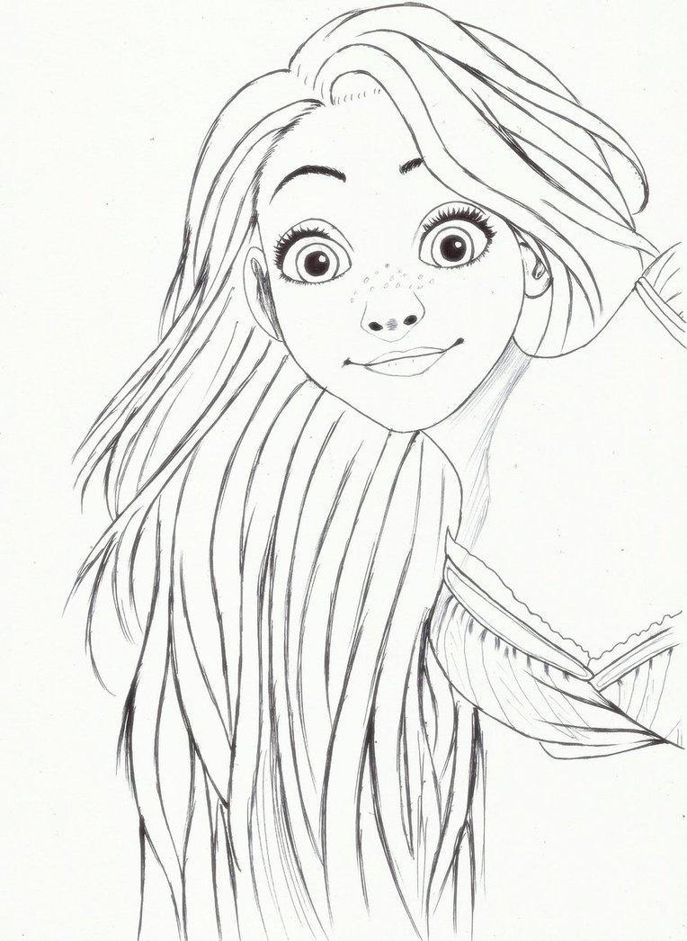 764x1046 Rapunzel By Carldraw