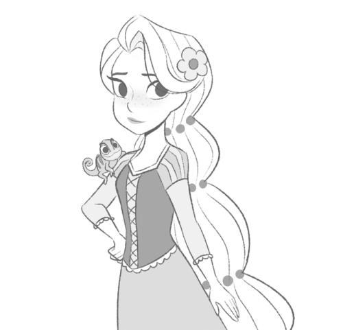 500x481 Rapunzel Sketch Tumblr