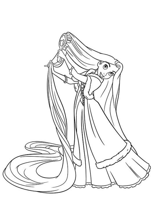 531x750 Coloring Page Rapunzel
