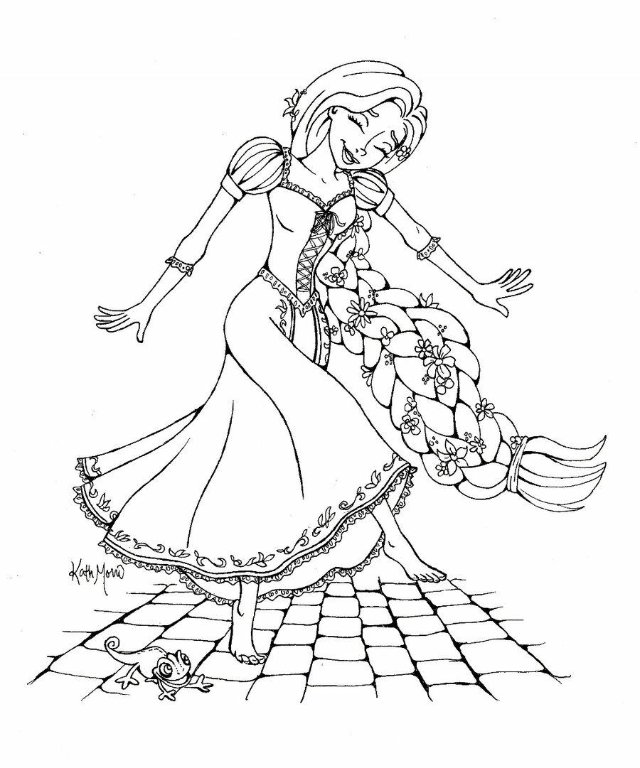 900x1081 Dancing In The Street Rapunzel By Bummblebird
