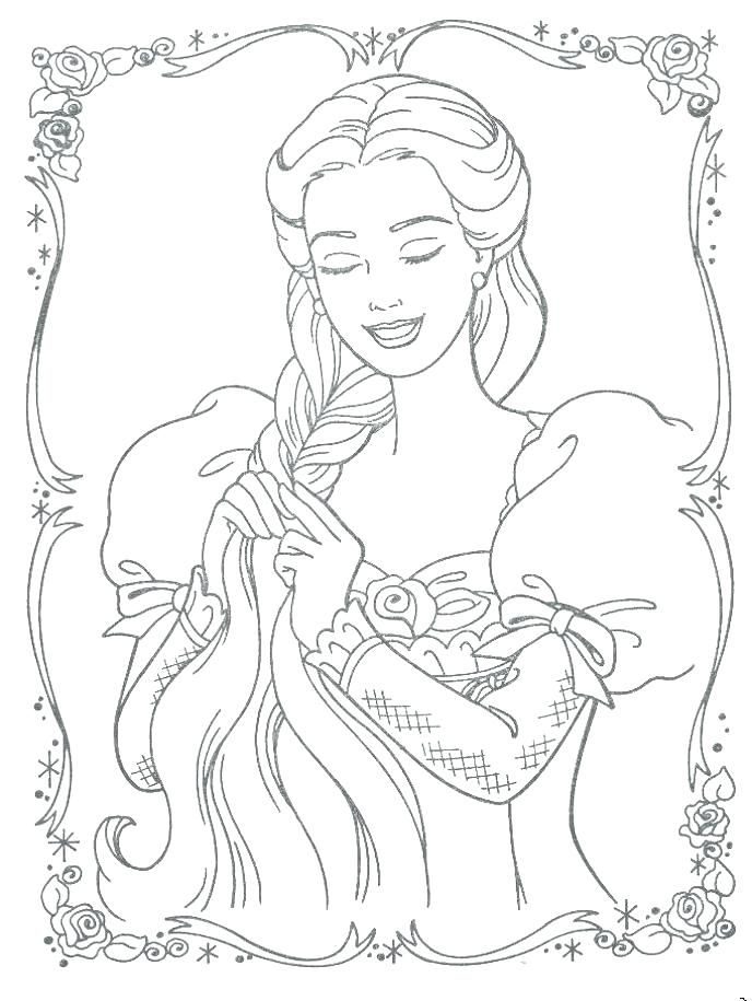 Rapunzel Tangled Drawing