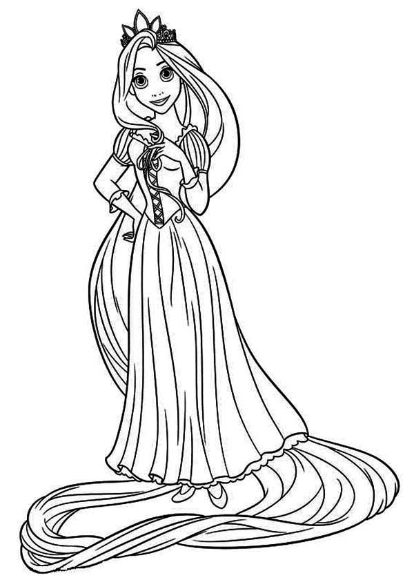 barbie as rapunzel coloring pages   The best free Rapunzel drawing images. Download from 540 ...