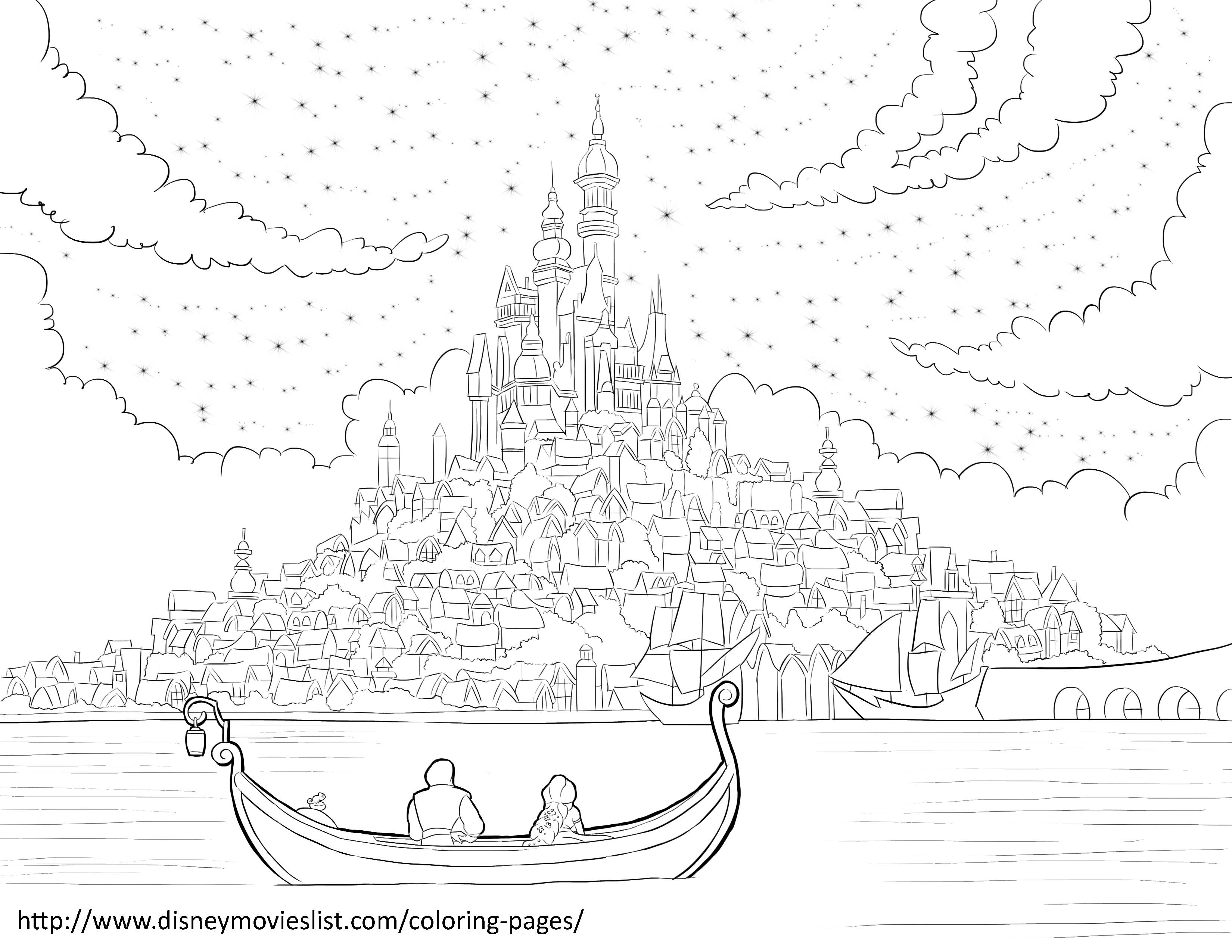 3300x2550 Rapunzel Tower Coloring Books For Girls