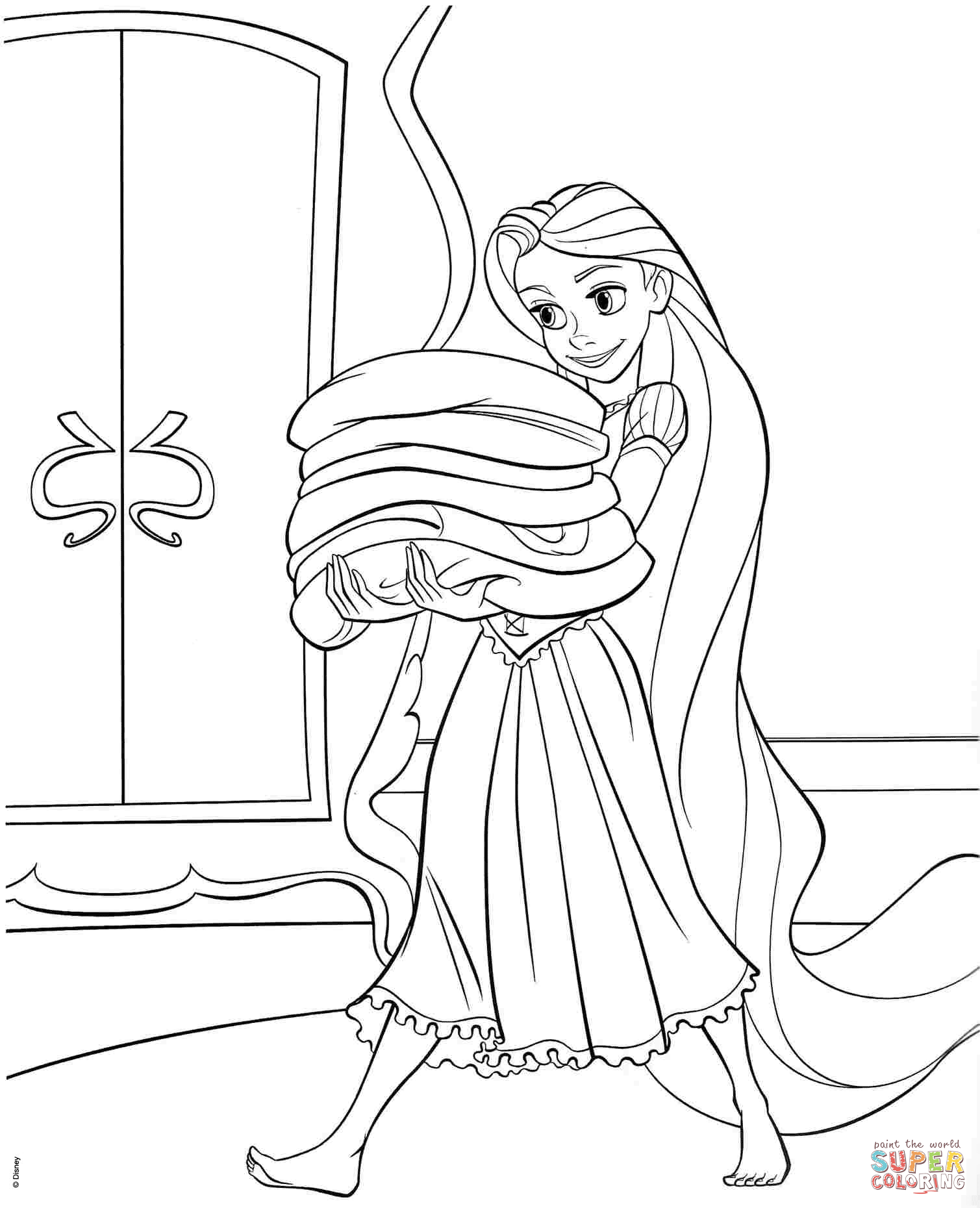 1509x1860 Tangled Rapunzel Coloring Page Free Printable Pages