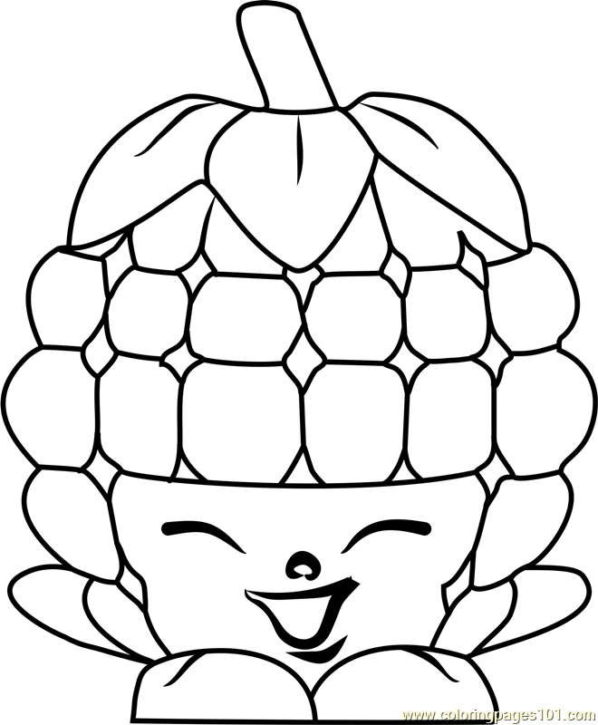 660x800 Asbury Raspberry Shopkins Coloring Page