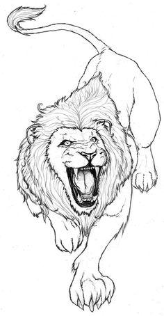 236x454 Elvis Lion Hand Drawn Biro, Sharpie
