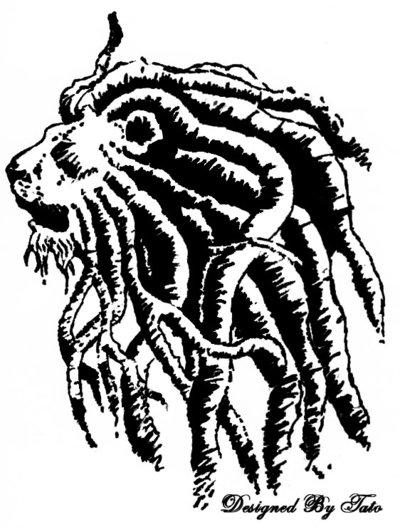400x527 Rasta Lion Tribal Tattoo Designs Rasta Tribal Tattoo
