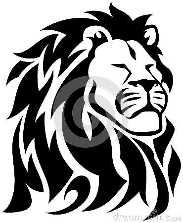 370x450 Reggae Tribal Tattoos Proud Lion Royalty Free Stock Images