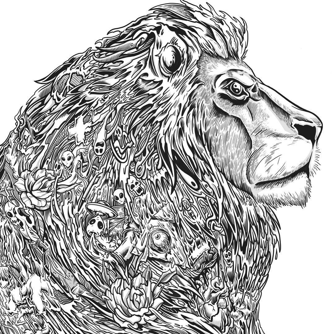 1080x1080 Drawing Design Lion Art On Instagram