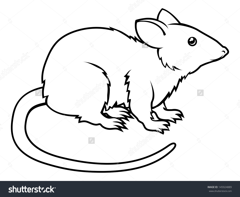 1500x1227 Of A Stylised Rat Perhaps A Rat Tattoo