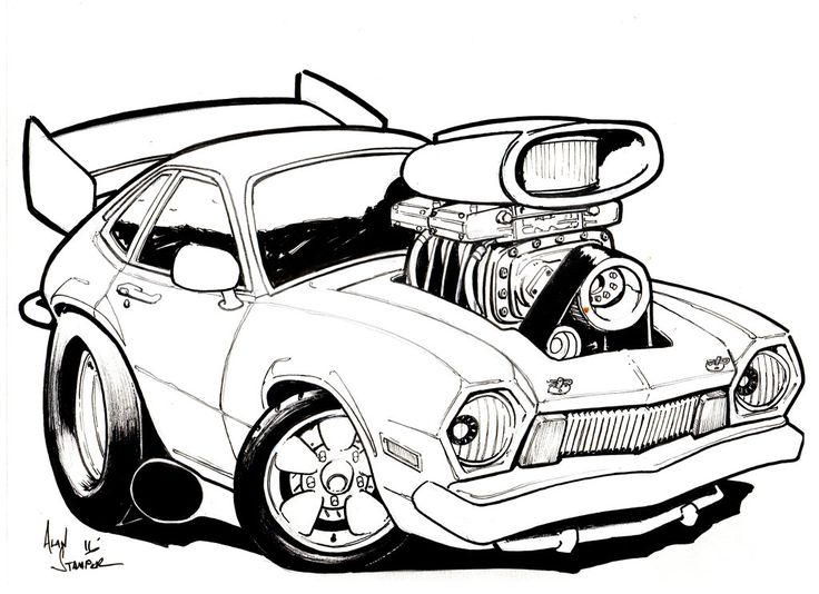 Rat Rod Drawing