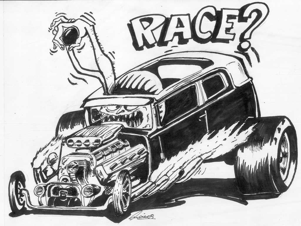 1024x768 Ed Roth Original Art Race De Ed Roth