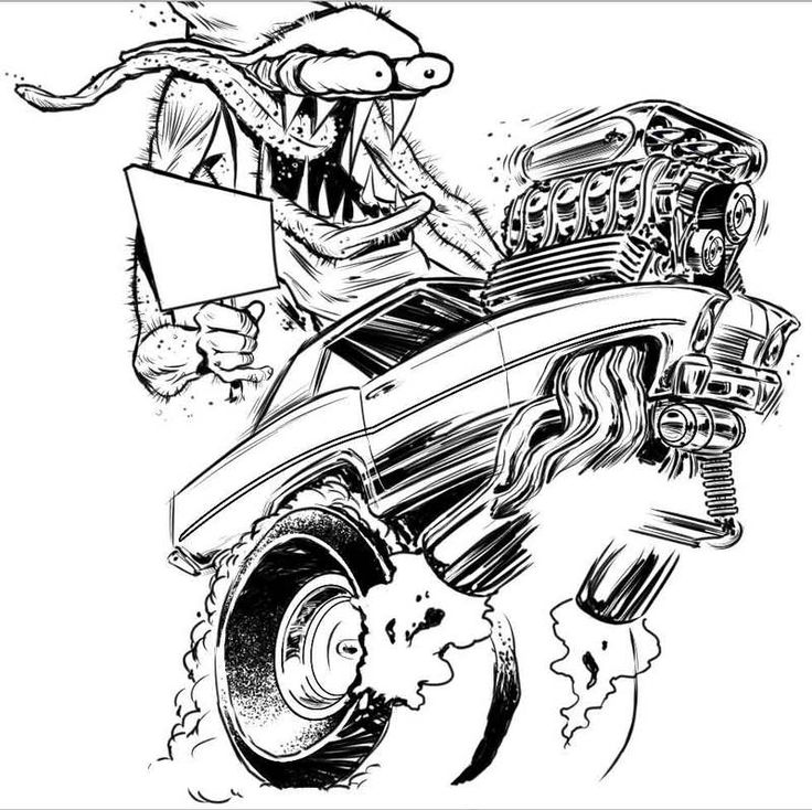 736x734 9 Best Tattoo Hot Rod Images On Rat Fink, Big Daddy
