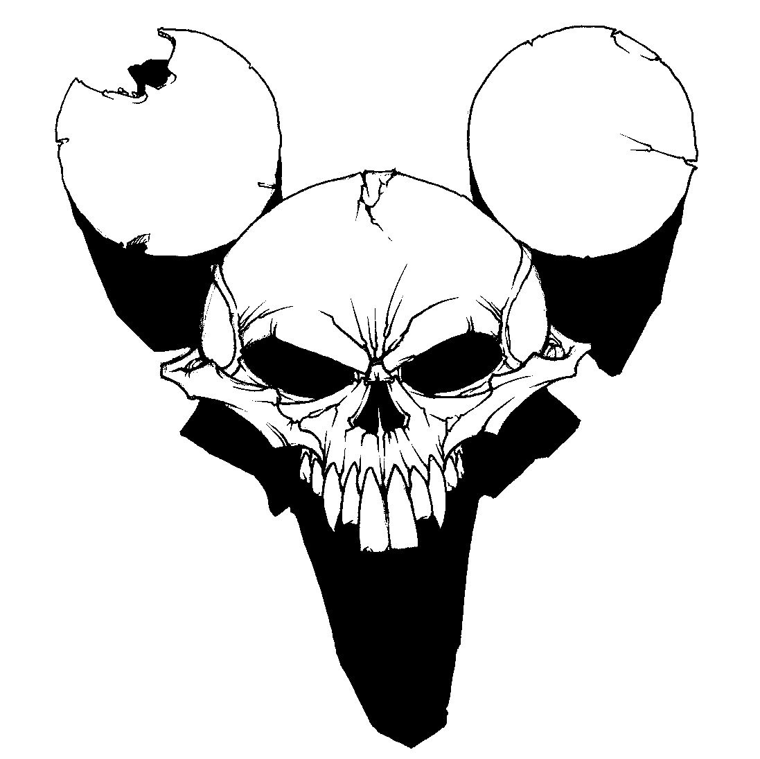 Rat Skull Drawing at GetDrawings.com | Free for personal use Rat ...