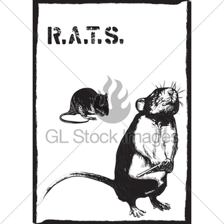 325x325 Rats, Rat With Gun Freehand Drawing, Vector Gl Stock Images