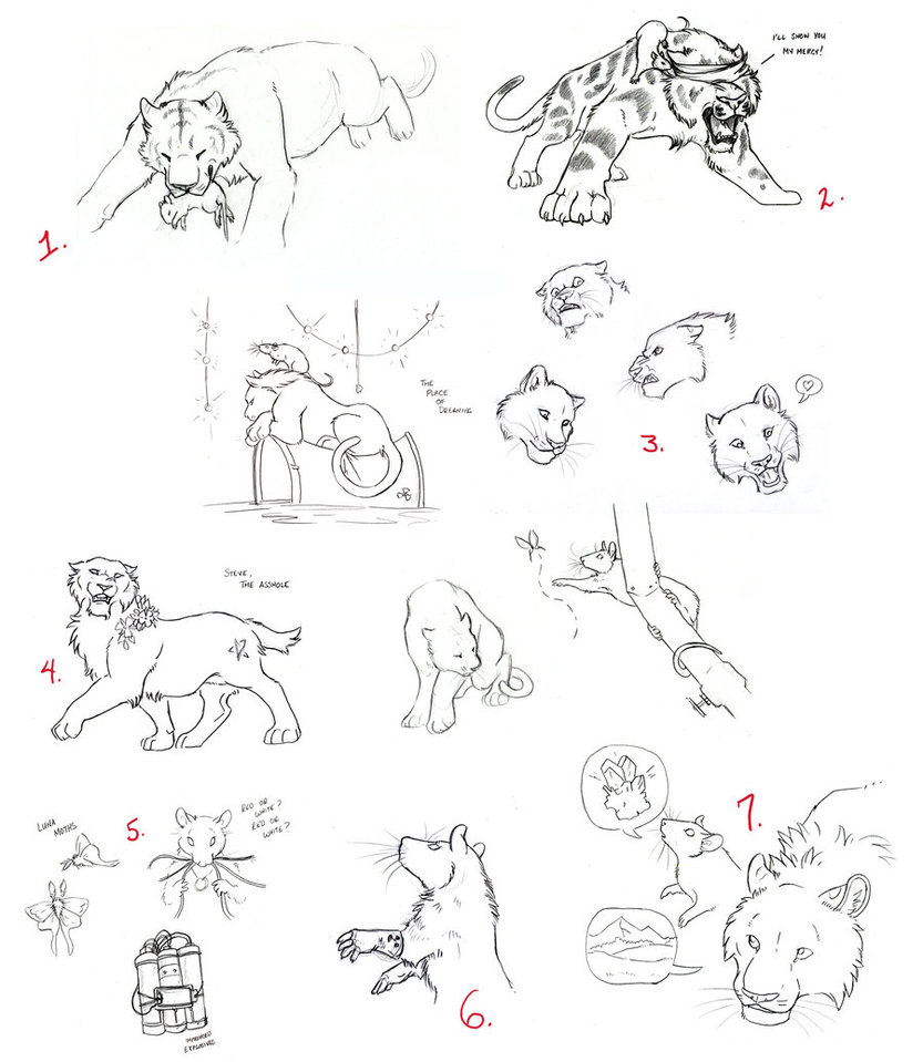 833x959 Sketches More Rats And Tigers By Moonsongwolf