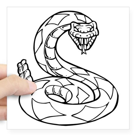 460x460 Rattlesnake Bumper Stickers Cafepress