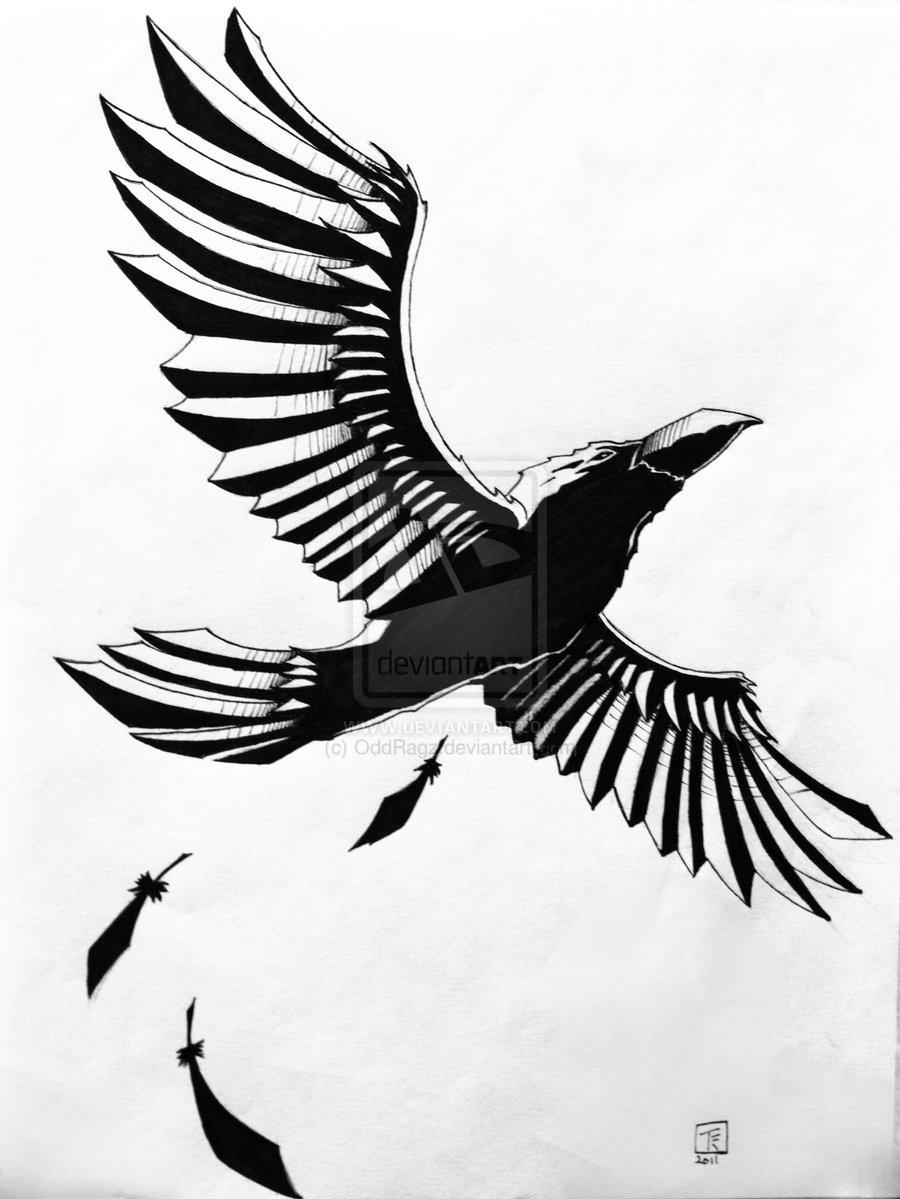 900x1199 Raven Tattoo