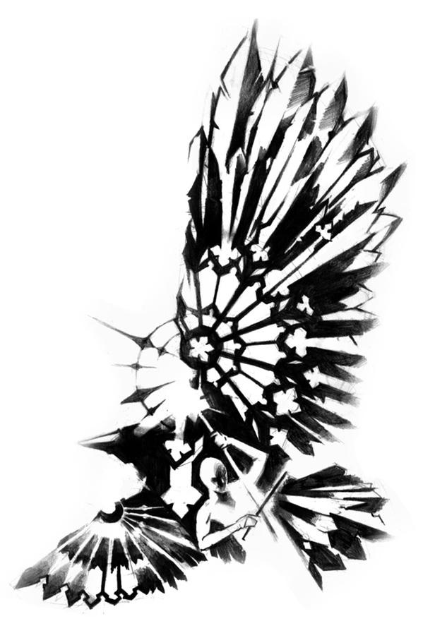 599x880 Raven Tattoo Dream Catchers, Ravens And Catcher