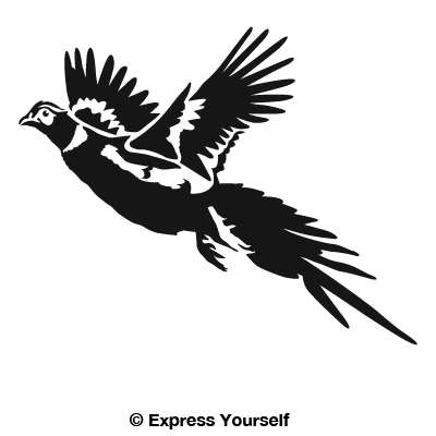 400x400 Pheasant in flight decal 4th July Pheasant