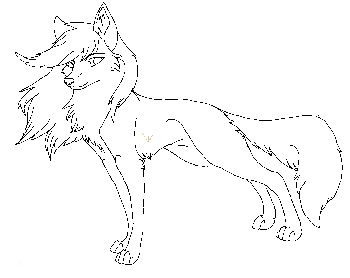 700x556 Lineart Wolf New 1 By Raven Morticia
