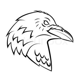 308x320 Raven Head Stock Vector Colourbox