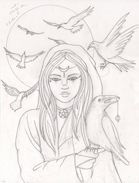 285x375 Raven Moon Painting Tutorial By Jennifer Galasso