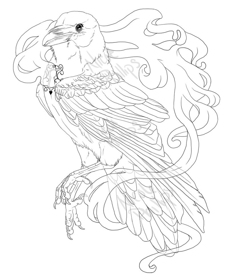 817x978 Raven Rib Tattoo By Palehok