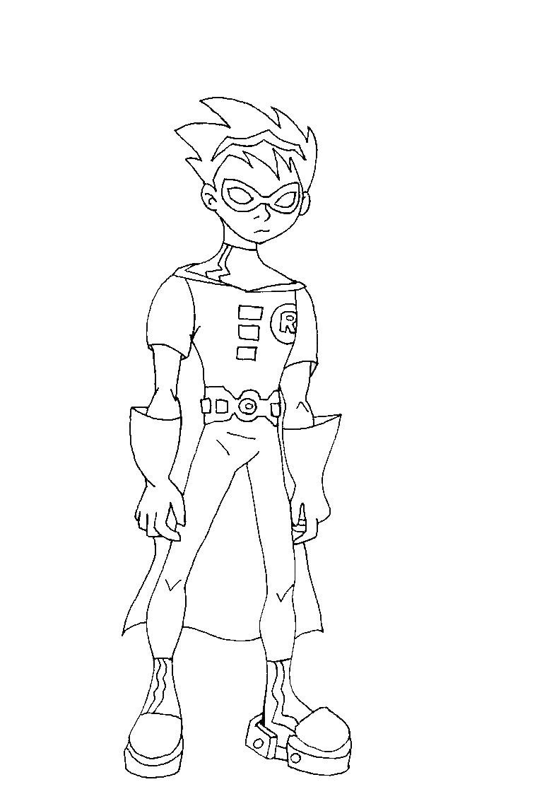 784x1123 Robin Outline 01 By Robin X Raven