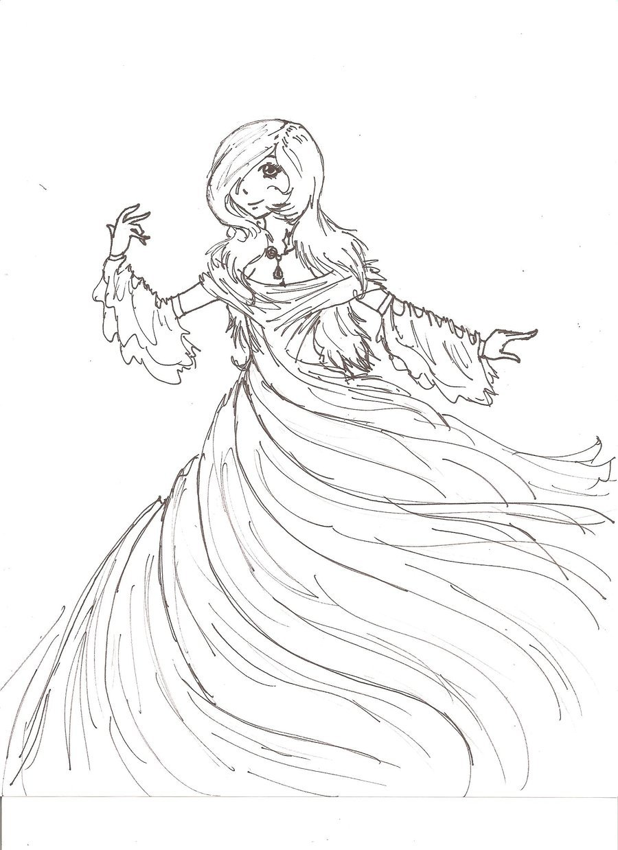 900x1238 Raven Goddess Outline By Gothicpeaches