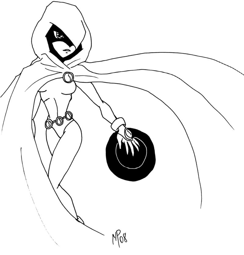 800x839 Teen Titans Raven Drawing