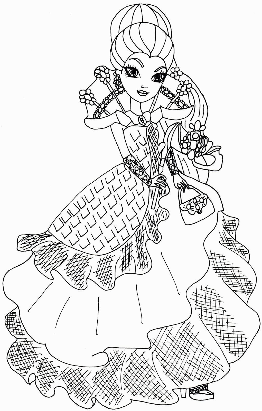 1020x1600 Coloring Pages Raven Queen Copy Ever After High