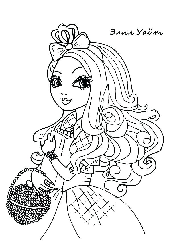 600x848 Coloring Ever After High Beautiful Raven Queen Ever After High